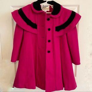 London Fog Pink Cape Dress Coat Valentines Day
